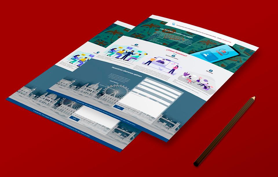 diseño landing page web idiomas
